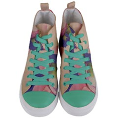 Fabric Textile Abstract Pattern Women s Mid Top Canvas Sneakers