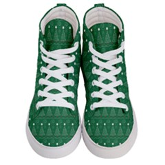Christmas Tree Holiday Star Women s Hi Top Skate Sneakers