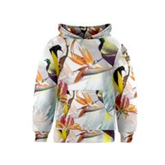 Birds Of Paradise Kids  Pullover Hoodie by TKKdesignsCo