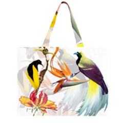 Birds Of Paradise Zipper Large Tote Bag by TKKdesignsCo