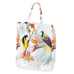 Birds Of Paradise Giant Grocery Zipper Tote