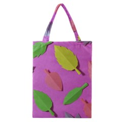 Leaves Autumn Nature Trees Classic Tote Bag by Celenk