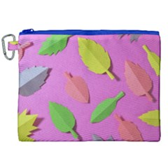 Leaves Autumn Nature Trees Canvas Cosmetic Bag (xxl)