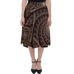 Abstract Pattern Graphics Folding Skater Skirt