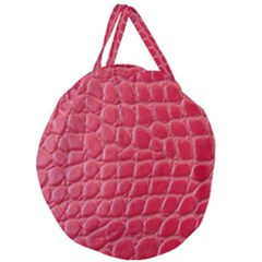 Textile Texture Spotted Fabric Giant Round Zipper Tote