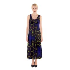 Background Texture Pattern Sleeveless Maxi Dress by Celenk