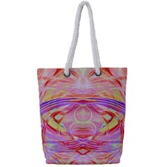 Cosmic Energy Pattern Full Print Rope Handle Tote (small) by Cveti