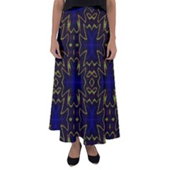 Background Texture Pattern Flared Maxi Skirt by Celenk
