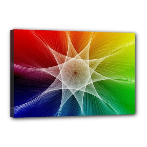 Abstract Star Pattern Structure Canvas 18  X 12
