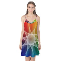 Abstract Star Pattern Structure Camis Nightgown by Celenk