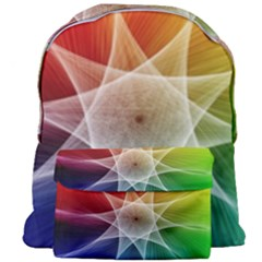 Abstract Star Pattern Structure Giant Full Print Backpack