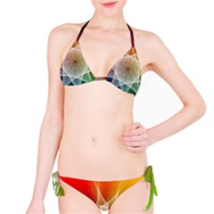 Abstract Star Pattern Structure Bikini Set