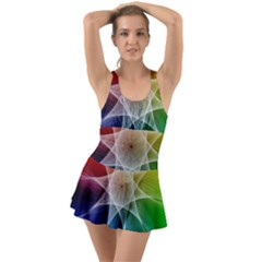 Abstract Star Pattern Structure Swimsuit by Celenk