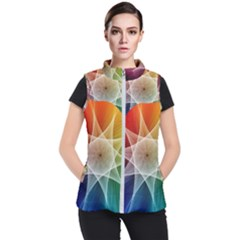 Abstract Star Pattern Structure Women s Puffer Vest