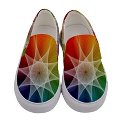 Abstract Star Pattern Structure Women s Canvas Slip Ons