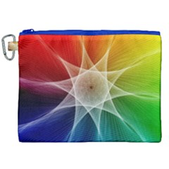 Abstract Star Pattern Structure Canvas Cosmetic Bag (xxl) by Celenk