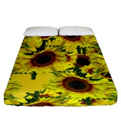 Sun Flower Pattern Background Fitted Sheet (king Size) by Celenk