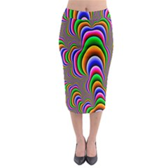 Fractal Background Pattern Color Midi Pencil Skirt