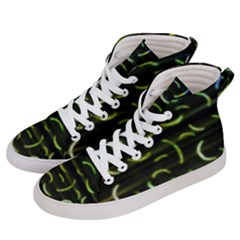 Abstract Dark Blur Texture Women s Hi-top Skate Sneakers by dflcprints