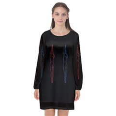 Arctic Monkeys Long Sleeve Chiffon Shift Dress