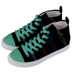 Arctic Monkeys Women s Mid Top Canvas Sneakers by Valentinaart