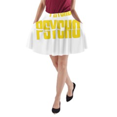 Psycho  A Line Pocket Skirt by Valentinaart