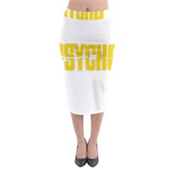 Psycho  Midi Pencil Skirt by Valentinaart