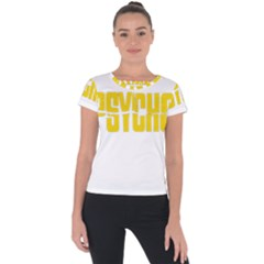 Psycho  Short Sleeve Sports Top  by Valentinaart