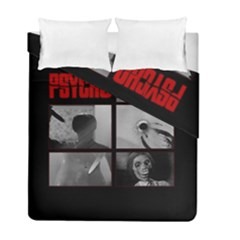 Psycho  Duvet Cover Double Side (full/ Double Size) by Valentinaart