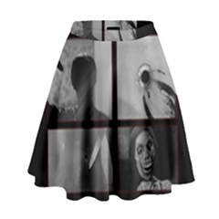 Psycho  High Waist Skirt by Valentinaart
