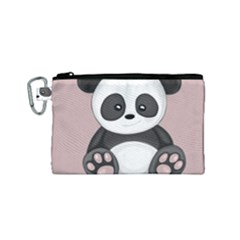 Cute Panda Canvas Cosmetic Bag (small) by Valentinaart