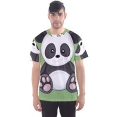 Cute Panda Men s Sports Mesh Tee by Valentinaart