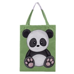 Cute Panda Classic Tote Bag by Valentinaart