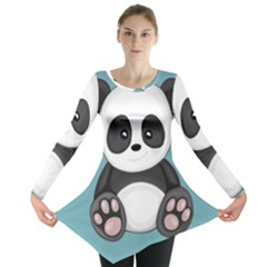 Cute Panda Long Sleeve Tunic  by Valentinaart