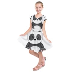 Cute Panda Kids  Short Sleeve Dress