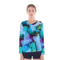 Abstract Painting Art Women s Long Sleeve Tee