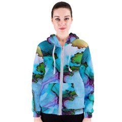 Abstract Painting Art Women s Zipper Hoodie by Celenk