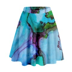 Abstract Painting Art High Waist Skirt by Celenk