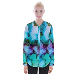 Abstract Painting Art Womens Long Sleeve Shirt
