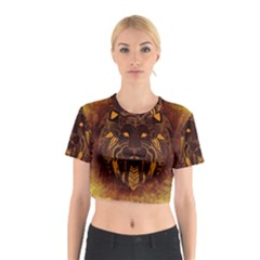 Lion Wild Animal Abstract Cotton Crop Top