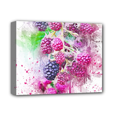 Blackberry Fruit Art Abstract Deluxe Canvas 14  X 11  by Celenk