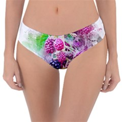 Blackberry Fruit Art Abstract Reversible Classic Bikini Bottoms
