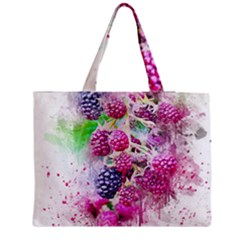 Blackberry Fruit Art Abstract Medium Tote Bag by Celenk