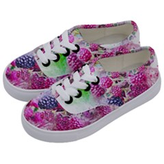 Blackberry Fruit Art Abstract Kids  Classic Low Top Sneakers by Celenk