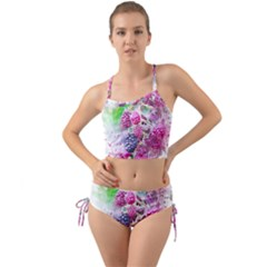 Blackberry Fruit Art Abstract Mini Tank Bikini Set