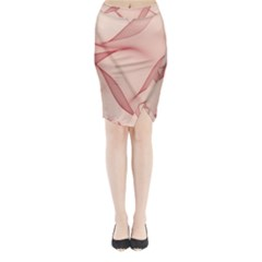 Background Light Glow Abstract Art Midi Wrap Pencil Skirt
