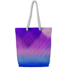 Background Art Abstract Watercolor Full Print Rope Handle Tote (small)