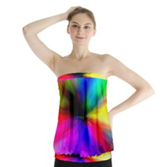 Creativity Abstract Alive Strapless Top