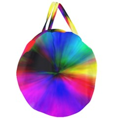 Creativity Abstract Alive Giant Round Zipper Tote