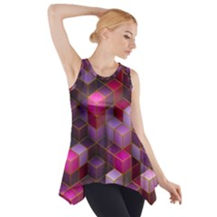 Cube Surface Texture Background Side Drop Tank Tunic